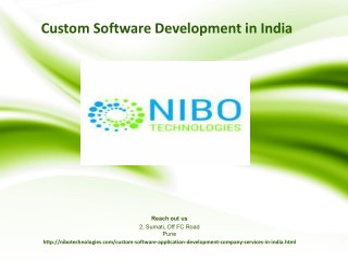 Custom Software Development Company, Services in India - NIBO Technologies