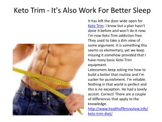 Keto Trim - It's Working For Burn Your Fat