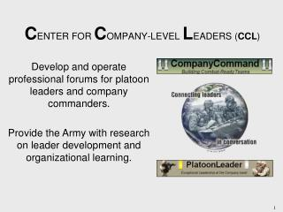 CENTER FOR COMPANY-LEVEL LEADERS CCL