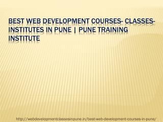 Best Web Development Courses In Pune Fees|Duration | Web Development