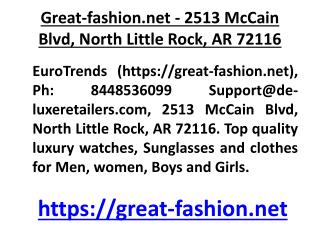 Great-fashion.net - 2513 McCain Blvd, North Little Rock, AR 72116