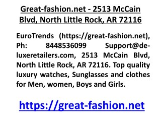 Great-fashion.net - 2513 McCain Blvd, North Little Rock