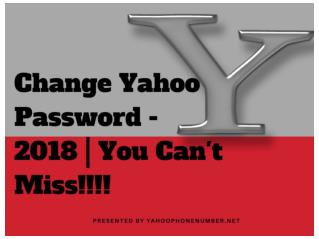 How To Change Yahoo Account Password - 2018 | You Should Not Miss!!!