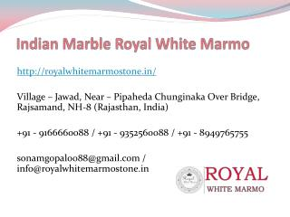 Indian Marble Royal White Marmo