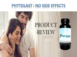 PhytoLast : No side effects