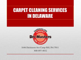 Carpet Cleaning Services In Delaware