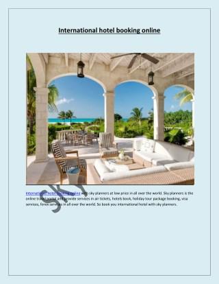 International hotel booking online