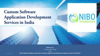 Custom Software Application Development Services in India - NIBO Technologies
