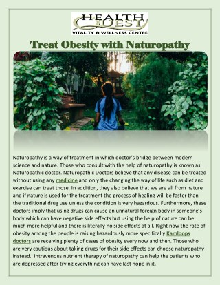 Treat Obesity with Naturopathy