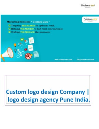 Custom logo design Company | logo design agency Pune India.