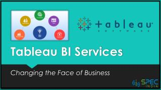 Tableau BI Services - Changing the Face of Business