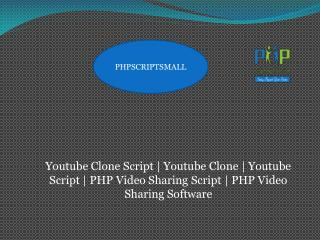 Youtube Clone| PHP Video Sharing Software | Youtube Clone script