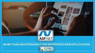 ASP .NET More than Indispensable for Enterprise Web Applications