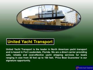 Boat Transport Shipping vs. Sailing