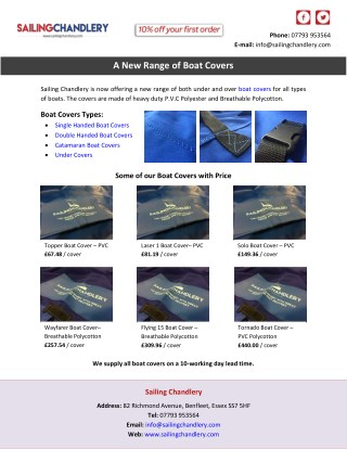 A New Range of Boat Covers