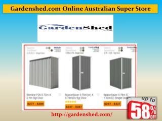 Garden Sheds, Timber Sheds Online Sale | Gardenshed.com