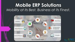 Mobile ERP Solutions - Mobility at its Best. Business at its Finest.