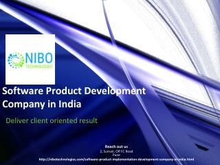 Software Product Development,Software Product Development Company in India - NIBO Technologies
