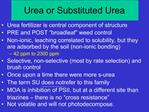 Urea or Substituted Urea