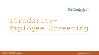 Best Employee Background Verification Agency, KYC & Vendor Screening : iCrederity