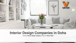 Interior design companies in Doha