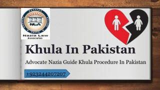 Law Of Khula Procedure In Pakistan 2018