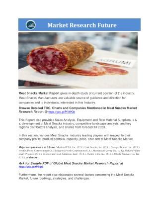 Meat Snacks Market presentation
