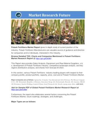Potash Fertilizers Market Presentation