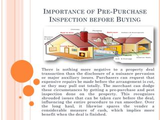 Importance of Pre-Purchase Inspection before Buying