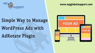 manage wordpress ads
