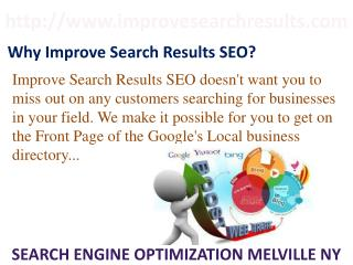 Improve Search Results SEO New York, SEO Melville NY