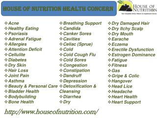 House of Nutrition Health Concern
