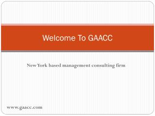 Management Consulting Firm in New York   GAACC