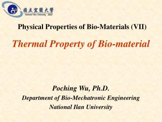 Thermal Property of Bio-material
