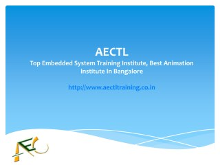 Top Embedded System Training Institute, Best Animation Institute