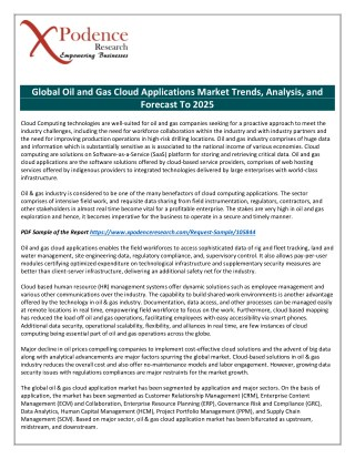 A Deep Analysis of Current and Future Investments in Oil and Gas Cloud Applications Market
