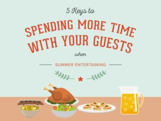 Spending More Time with Your Guests When Summer Entertaining