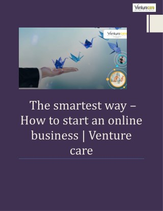 The smartest way –How to start an online business  Venture care