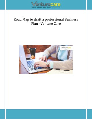 Road Map to draft a professional Business Plan –Venture Care