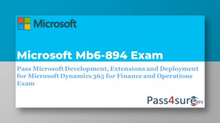 Preparation Of MB6-894 Exam By Learning MB6-894 Dumps PDF