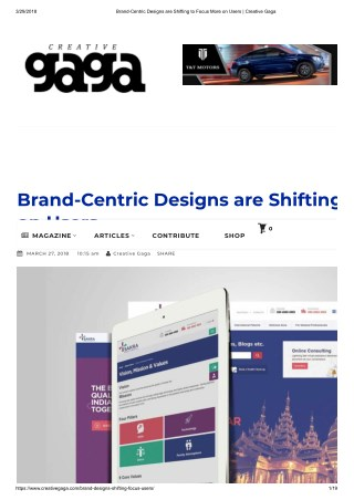 Brand-Centric Designs are Shifting to Focus More on Users