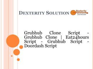 Grubhub Script -Doordash Script