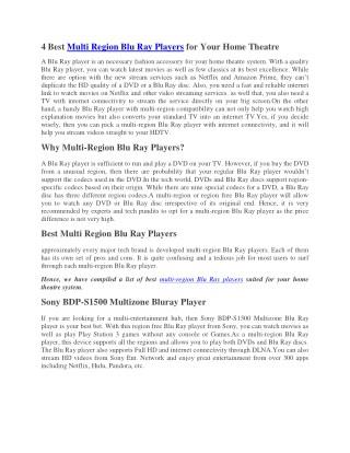 multi region blu ray player india