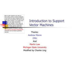 Introduction to Support Vector Machines