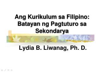 integratibong pamamaraan sa pagtuturo ng filipino Part 1 pagtuturo ng panitikan kahalagahan ng pagtuturo ng wikang filipino - duration: digital apps sa pagtuturo sa filipino - duration.