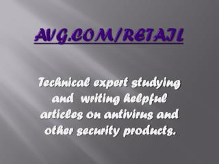 AVG Retail - Registration - Installation | www.avg.com/retail