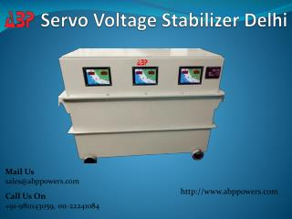 Servo Voltage Stabilizer Delhi
