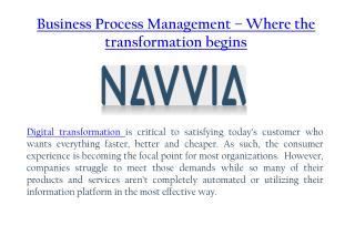 Business Process Management  - Digital Transformation