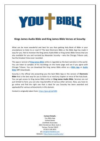 PPT - Kings James Audio Bible and King James Bible Verses at