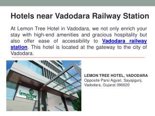 Hotels near Vadodara Railway Station
